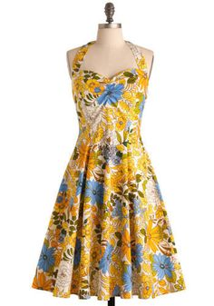 this is one of the most amazing dresses i've found on #modcloth.com. i would love to have this to wear all summer, and for $99.99 i might just get my money's worth.