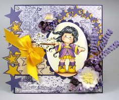 New card using Wizard Tilda by Cathy Lee of Cathy's Creative Place. http://creativecathy.blogspot.com