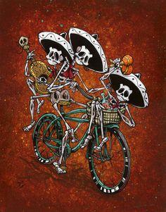 Day of the Dead Artist David Lozeau, Band on the Run, David Lozeau Dia de los Muertos Art