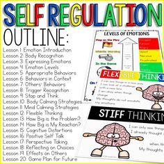 education - Self Regulation Curriculum Self Regulation Activities for School Counseling Social Skills Activities, Counseling Activities, Expressing Emotions Activities, Social Skills Lessons, Teaching Social Skills, Leadership Activities, Elementary Counseling, School Counselor, Career Counseling