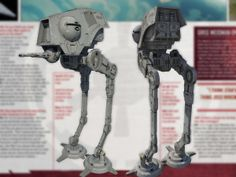 Concept art from STAR WARS REBELS: AT-DP (All Terrain Defense Pod) walker front and back. Art by Pat Presley. 2014 © Lucasfilm Ltd. and TM. ...