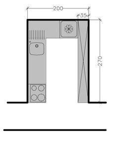 Plan de cuisine en I de 6,5m2 | Home decor | Pinterest