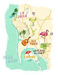 Heather Gatley - San Diego map