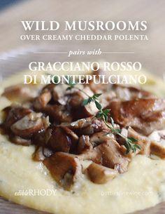 mushroom recipe - food and wine pairing