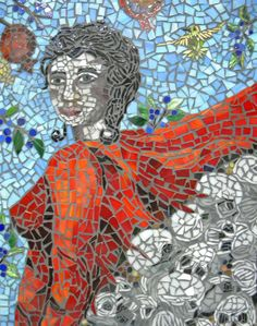 The Amiable Henriette unlit Mosaic Glass, Glass Art, Illumination Art, Painting, Painting Art, Paintings, Painted Canvas, Drawings