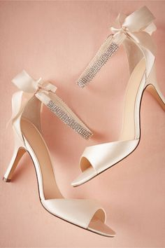 Crystal Bow Heels from BHLDN | #BHLDNstylists