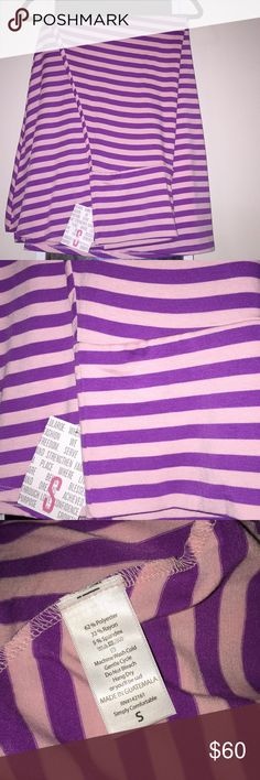 """🆕💜💕LuLaRoe Maxi Skirt Dress Stripe Unicorn 🆕💜💕LuLaRoe Maxi Skirt Dress Stripe Unicorn  Pink and Purple=2 of my Favorite Colors Horizontal Stripes This is actually a Maxi Skirt, but it is also long enough to be worn as a strapless/tube dress!  Soooo cute with a denim (or white) jean jacket 😍😍😍 Total length is about 45"""" It's long but you can always fold the the waistband over or tuck inside♥️ LuLaRoe Skirts Maxi"""