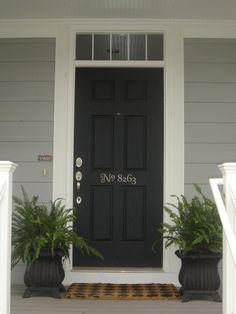 Address # on Front door.