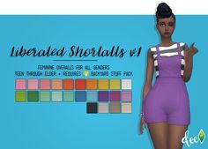Liberated Shortalls v.1 at Deetron Sims • Sims 4 Updates
