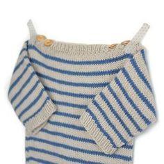 Marinière bébé Augustin - modèle à tricoter - Marinière bébé Augustin – modèle à tricoter – Tutoriels de tricot chez Makerist - Knitted Hats Kids, Knitting For Kids, Crochet For Kids, Crochet Baby, Knit Crochet, Crochet Sweaters, Kids Hats, Baby Sweater Knitting Pattern, Baby Knitting Patterns