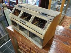 Wooden 3 Section Chicken Crate by FarmFreshCollections on Etsy, $55.00. LOVE!