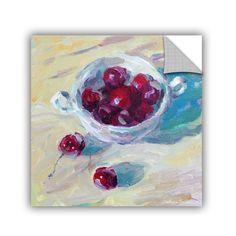 Cup Of Cherries by Svetlana Novikova Art Appeelz Removable Wall Mural