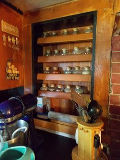 """DIY Spice Rack From Old Window Frame-""""Built Ins""""  http://thefarmhouseinthefield.blogspot.com/2015/09/necessity-is-mother-of-invention.html"""
