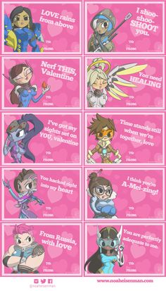 Overwatch Valentines Day Cards