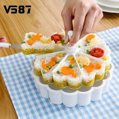 Sushi Molds Rice Pastry Jelly Pudding Melaleuca Vegetable Roll Compartment Cutting DIY Home Patry Bakeware Kitchen Tools #Affiliate