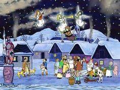 cesky vanoce - All Things Christmas, Christmas Time, Christmas Cards, Anime Comics, Christmas Traditions, Winter Wonderland, Digital Art, Cold, Seasons