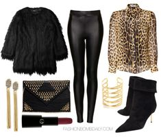 What to Wear to a Jay Z Concert Moschino C&C Silk Blouse Unreal Fur Black Wanderlust Faux Fur Coat Kurt Geiger Baker Ankle Boots Topshop Tex...