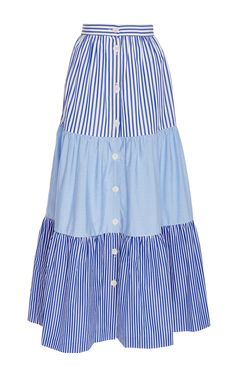 Mix Tiered Peasant Skirt - MDS Stripes Resort 16 - Preorder now on Moda Operandi