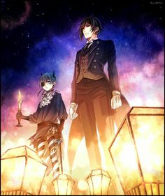 Ciel and Sebastian | Kuroshitsuji - Black Butler #Anime #Manga                                                                                                                                                                                 More