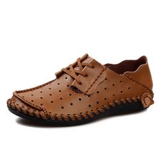 Men Leather Shoes Comfort Loafers 2016 Spring/Summer Fashion Shoes Designer Casual Breathable