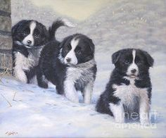 Oil Pastels Featured Images - Winter Wonderland  by John Silver