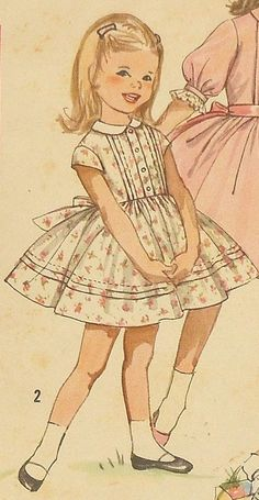 Party Dress Patterns for Girls | Vintage Girls Party Dress Sewing Pattern