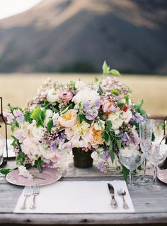 Pretty table setting.