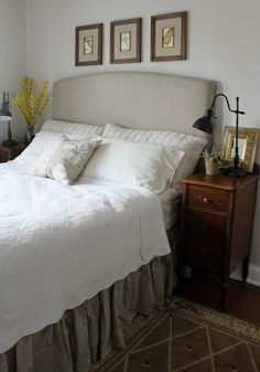 Tivoli: Great step-by-step here for creating an upholstered DIY headboard.   >> Scopri le Offerte!