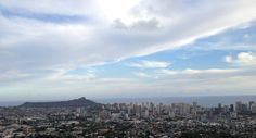 View of Diamond head and Honolulu from Tantalus
