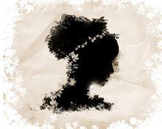 Romantic nature-inspired silhouette