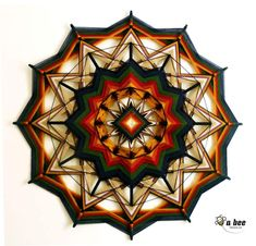 Mandala Yarn, God's Eye Craft, Mystic Eye, Diy And Crafts, Arts And Crafts, Xmax, Gods Eye, Weaving Art, Strands