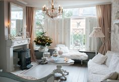 """This elegant sitting room is from our feature """"Festivity in Glow"""""""