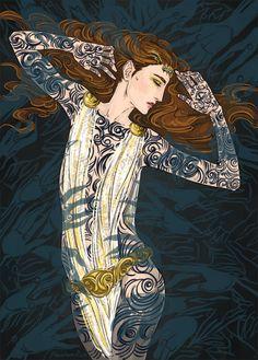 stunning pic of Feyre [PhantomRin - art & illustration]