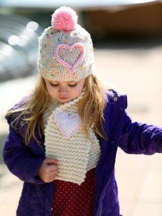 Easy Hand-Knit Kids' Scarf - Easy Handmade Valentine's Day Crafts on HGTV