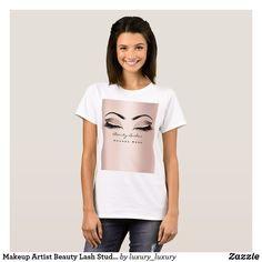 Makeup Artist Beauty Lash Studio Rose BlushGlitter T-Shirt Beauty Lash, Luxury Store, Glitter Makeup, Lash Extensions, Makeup Trends, Wardrobe Staples, Cool T Shirts, Lashes, Eye Makeup