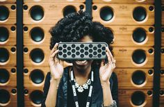 """Liberate BT Portable Speakers by House of Marley - A speaker that works with Bluetooth-enabled devices. This has four 1"""" speakers that provide impressive sound anywhere you go."""