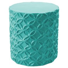 Pretty interlocking flowers in relief. So cute, and sturdy enough to use as a side table or a seat. This Bahaman Sea Blue Flower Stool/Accent Table is papiermache, handmade from recycled materials … Scarlet, Creative Kids Rooms, Side Table Decor, Kids Room Furniture, Pink Furniture, Bedroom Furniture, Handmade Furniture, Recycled Furniture, Unique Furniture