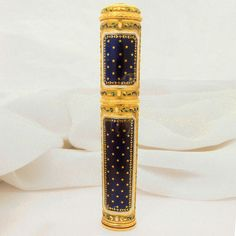 LOUIS XVI ENAMELLED GOLD SEALING-WAX CASE FRANCE XVIII CENTURY GOLD MARKS