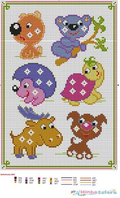 Designing Your Own Cross Stitch Embroidery Patterns - Embroidery Patterns Cross Stitch For Kids, Mini Cross Stitch, Simple Cross Stitch, Cross Stitch Borders, Cross Stitch Animals, Cross Stitch Charts, Cross Stitch Designs, Cross Stitching, Cross Stitch Embroidery