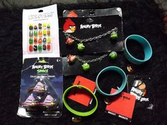 new Lot of 9 Angry Bird Jewelry bag fillers Party supply Pop Culture clearance  #ravio