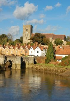 Aylesford in Kent, England, in the background the Norman Church of St Peter and St Paul's
