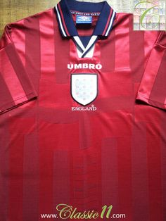 Relive England's 1998/1999 international season with this vintage Umbro away football shirt.