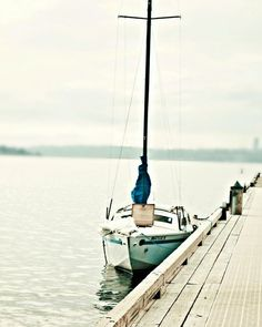 vintage sailboat on the dock