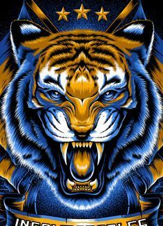 Illustration Done For Tigres Uanl5 Tints On Black Tee In