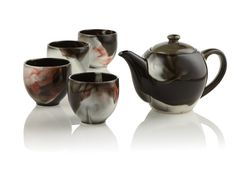 $59.95 with 10% off with code from SocaMom.com. This Japanese stoneware set has a unique reactive glaze which changes on each set once the heat of the kiln comes into contact with the pieces.
