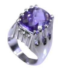 silver Ring Amethyst Ring Purple silver Ring 925 Amethyst Ring Gemstone Ring 925 Filigree Ring Engagement Ring SRAME6.5-2025 by RiyoGems
