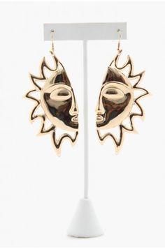LoveMelrose.com From Harry & Molly | Half Sun Earrings - Gold
