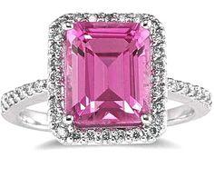 Emerald Cut Pink Topaz
