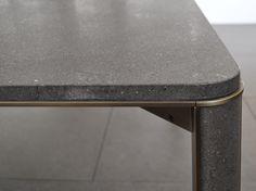 GREGORIO Basalt table Gregorio Collection by mg12 design Monica Freitas Geronimi