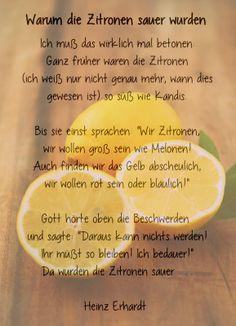 Warum die Zitronen sauer wurden. Ein #Gedicht von Heinz Ehrhardt. Image by Patce's Patisserie